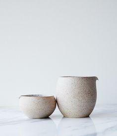 Image of stoneware + porcelain jug