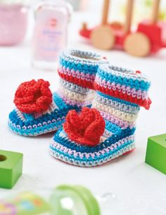 FREE CROCHET PATTERN: Baby booties