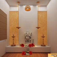 40 Mind Calming Wooden Home Temple Designs Pooja Room Door Design, Room Interior Design, Home Room Design, Temple Room, Home Temple, Living Room Partition Design, Room Partition Designs, Temple Design For Home, Mandir Design