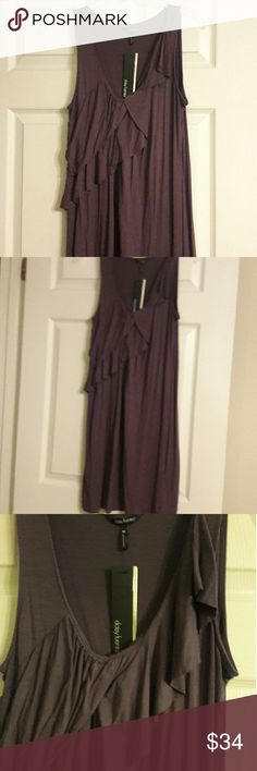 GORGEOUS NEW DRESS! I'M BAD WITH COLORS..  ITS A PLUM COLOR IN MY EYES,  ABSOLUTELY BEAUTIFUL DRESS,   KNEE LENGTH ON ME Daisy Fuentes Dresses