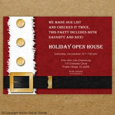 Holiday Open House Party Invitation Christmas Door By Misspokadot