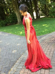 Red Prom Dresses,Prom Dress,Red Prom Gown,Prom Gowns,Elegant Evening