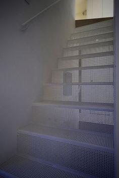 perforated metal stairs...genius