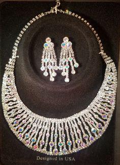 Fashion Jewelry, Trendy Jewelry, Inexpensive Jewelry, Jewelry, Bridal Jewelry, Wedding Jewelry, Jewelry Set, Necklace, Crystal Necklace, Rhinestone Necklace