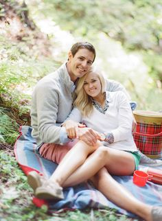 Lots of cute ideas for engagement session shoot -    See More: http://www.StyleMePretty.com/california-weddings/2014/05/23/carmel-by-the-sea-engagement/ #SMP - Photography: AaronSnowPhotography.com