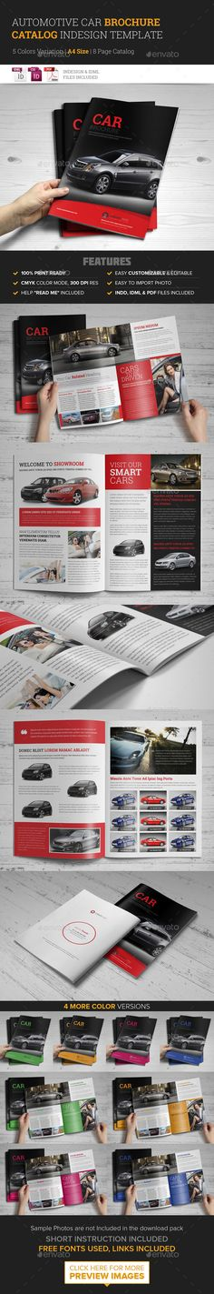 Automotive Car Brochure Catalog InDesign Template — InDesign INDD #clean minimalistic #brochure catalog • Available here → https://graphicriver.net/item/automotive-car-brochure-catalog-indesign-template/9530568?ref=pxcr