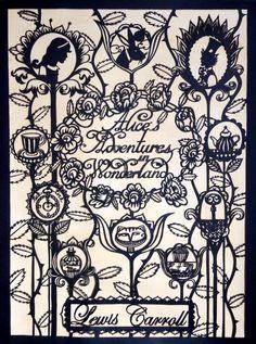 Su Owen Design: Paper-cuts Alice in Wonderland