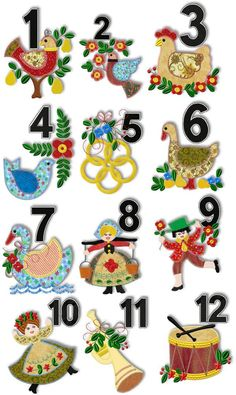 advanced embroidery designs 12 days of christmas applique set christmas sewing 12 days of