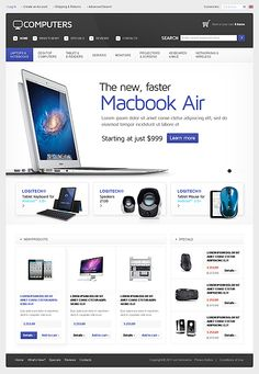 Computers Hardware osCommerce Templates by Hermes