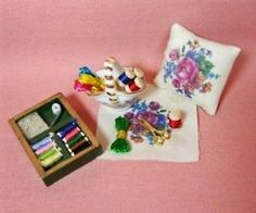 Dollhouse-Miniature-Sewing-Room-Needlepoint-Set