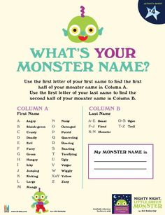 What's Your Monster Name - Ed Emberley