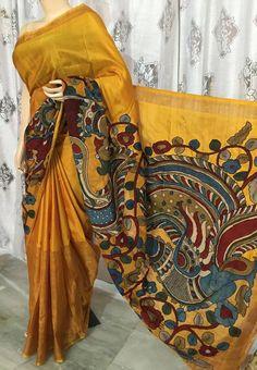 Latest Uppada Saree With kalamkari Design | Buy online uppada sarees | Elegant Fashion Wear