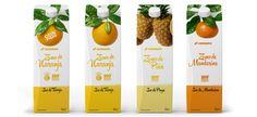 Diseño del Packaging de Zumos Regrigerados de Supermercados Consum por Puigdemont Roca Design Agency