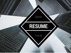 design resume, CV, Curriculum vitae Design Resume, Resume Cv, Attention Span, Dream Job, Check It Out, Curriculum, How To Get, Resume, Resume