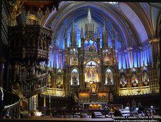 Notre-Dame Basilica, Montreal  A very beautiful interior!
