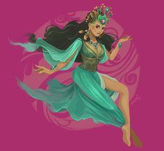 Lihangin, Goddess of Air by James Claridades [©2013]