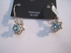 Hand Crafted Mexican Abalone Silver Plated Delicate Feather Design Earrings