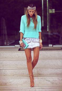 maxi sweater, embellished skirt