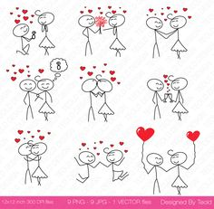 Stick Figure Clipart Clip Art, Stick People Couple Clipart Clip Art Commercial & Personal Use Valentine's day di TeoldDesign su Etsy https://www.etsy.com/it/listing/218870985/stick-figure-clipart-clip-art-stick