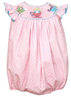 Claire and Charlie Smocked Alice In Wonderland Bubble ~ $68 from The Smock Exchange.