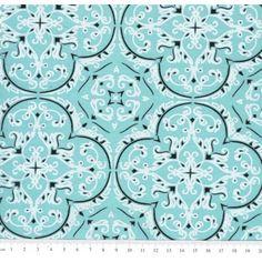 Tecido Estampado de Bandana cor - 03 (Verde Tiffany)