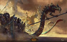 Tomb Kings by Bayard Wu Learn to make monsters /o/-\o\ Original post found here Warhammer Fantasy, Warhammer Tomb Kings, Warhammer 40000, Age Of Sigmar, King Art, Fantasy Kunst, Sword And Sorcery, Ouvrages D'art, Fantasy Artwork