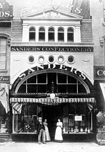Sanders: Sanders Confectionary was first opened by Fred Sanders on June 17, 1875 and started with a single retail shop in Downtown Detroit. Over the years the company concentrated on expanding its retail stores and eventually built up to over 57 stores in the Metropolitan Detroit area.