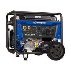 7500 Running Watt and 9000 Peak Watt Gas Powered Portable Generator with Electric Start - Carb Compliant