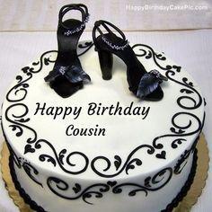 write name on Fashion Happy Birthday Cake