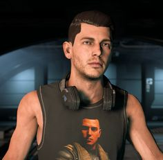Oh my god that's a perfect shirt xD Mass Effect 1, All Video Games, Role Play, Dragon Age, Mens Tops, How To Wear, Cyberpunk, Sci Fi, God