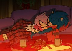Sonamy: It's Cold Outside by E-vay on DeviantArt