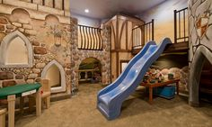 Create more fun and interesting ways for your child to get to places from his room. Think about high cabin beds, with slides instead of the conventional ladders and poles for them to slide down. Relive your childhood with all of your favourite playground toys – tunnels, swings…you name it.