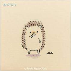 hedgehog I'm here. Cute Animal Drawings, Kawaii Drawings, Doodle Drawings, Doodle Art, Easy Drawings, Hedgehog Drawing, Hedgehog Art, Cute Hedgehog, Doodles Kawaii