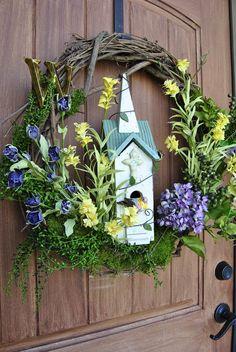 spring wreath idea thegirlwithpanache.blogspot.com