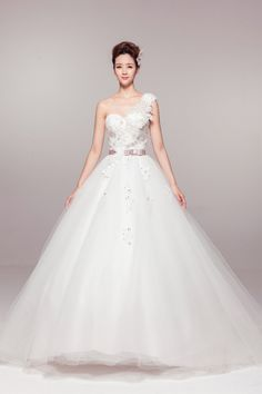 Plus Size One Shoulder Strapless Organza Sexy Backless Wedding Dress Free Shipping Ball Gowns Rode De Marriage $278.96