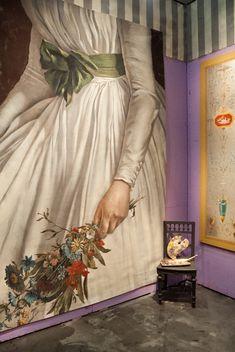 Pascal Amblard booth maison et Objet trade fair 2014 . Hand Painted Ornaments, Decoration, Sculpting, Fine Art, Murals, Creative, Trade Fair, Painted Walls, Painting