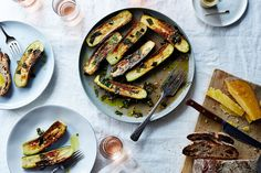 Canal House's Marinated Zucchini Recipe on Food52, a recipe on Food52 Vegetable Side Dishes, Vegetable Recipes, Vegetarian Recipes, Cooking Recipes, Veggie Side, Vegan Vegetarian, Healthy Recipes, Food 52, Side Dish Recipes