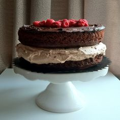 must make--chocolate cake with mousse filling, ganache & raspberries!!  (I made it w/o raspberries for my SIL sooo good!)