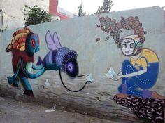 Мистические существа в уличных рисунках Curiot