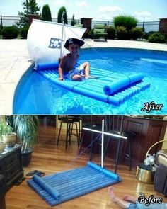 Pool Party Ideas For Kids Above Ground.Awesome Above Ground Pool Deck Designs In 2019 Above . Awesome Above Ground Outdoor Pool 10 Pics . Build A Multilevel Deck For A Kiddie Pool How Tos DIY. Lifehacks, Cool Diy, Pool Noodle Crafts, Pool Games, Pool Activities, Pool Noodles, Pool Floats, In Ground Pools, Cool Pools