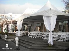 Wedding Ceremony on our Outdoor Patio