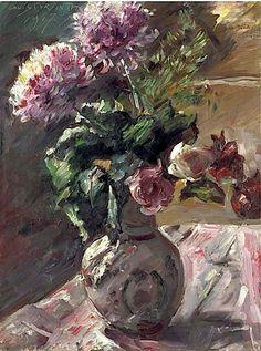 Lovis Corinth(1858-1925) Chrysanthemen und Rosen im Krug