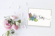 Custom Stationery Set | Custom Folded Notecards | Custom Stationary | Personalized Notecards | Custom Thank You Cards | Hand Drawn | Floral by elouisedesigns on Etsy