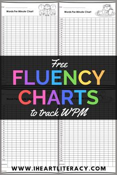 Track your students' words per minute with these free reading fluency charts that come in two styles and have three different wpm ranges. The best part, they're free! Reading Passages, Teaching Reading, Free Reading, Reading Comprehension, Reading Resources, Reading Activities, Teacher Resources, Student Centered Learning, Fun Classroom Activities
