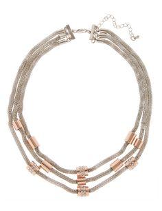 Multi-Strand Mesh Necklace | M&S