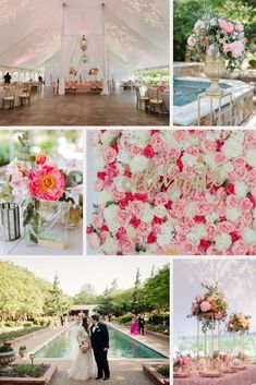 An elegant spring wedding at Channel Gardens and East Tent. Pink floral design with gold accents. A true dream garden wedding. Photography executed beautifully by Celina Gomez. April Wedding, Post Wedding, Tent Decorations, Wedding Decorations, Wedding Events, Wedding Reception, Weddings, Clark Gardens, Dream Garden