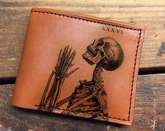 Leder Brieftasche  Mens Wallet  von BackertonSpectrum auf Etsy