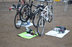 triathlon transition area - Tips for fast transitions.  two tri