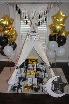 Use a teepee to display your children's Eid presents! It also makes a fun play area.