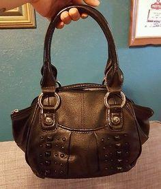 Kathy van Zeeland purse black with studs